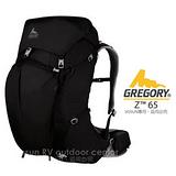 【美國 GREGORY】新款 Z65 專業健行登山背包(M/65L) 風雪黑 74568