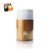【德國HOPE歐普】悶燒罐系列-800ml可提式304不鏽鋼雙層真空保溫罐-時尚金