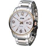 STAR 時代 品味大器紳士腕錶 1T1407-231RG-W