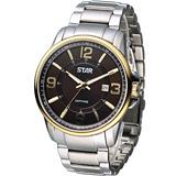 STAR 時代 品味大器紳士腕錶 1T1407-231YG-C