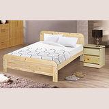 《顛覆設計》 精選原木3.5尺單人松木床架+獨立筒床墊+床頭櫃(三件組)