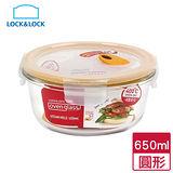 樂扣樂扣 輕鬆熱耐熱玻璃保鮮盒-圓形(650ml)