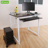 《DFhouse》亨利80公分附鍵盤多功能工作桌+主機架*兩色可選*