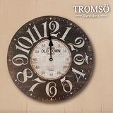 TROMSO無框畫時鐘-百樂城鎮(圓形)