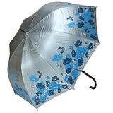 三隻小熊23色膠雙色印花淑女玻纖傘-水藍