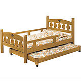 日式量販 美式3.5尺實木子母床架