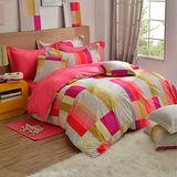 GOLDEN-TIME-韓式風格-紅-精梳棉-單人三件式薄被套床包組