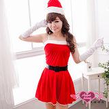 【天使霓裳】雪白耶誕 聖誕舞會角色扮演服(紅)
