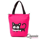 DF Queenin - 可愛水汪貓兒款手提斜背2用包-共4色