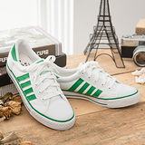 中國強 MIT 百搭休閒帆布鞋CH81(白綠)女鞋