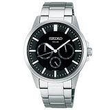 SEIKO 未來時尚三眼腕錶-黑面/銀 V14J-0AX0D