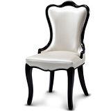 【椅吧】宮廷韓風曲線皮革餐椅