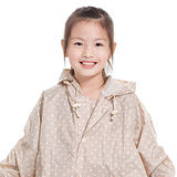 【rainstory雨衣】卡其點點兒童連身雨衣