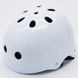 【D.L.D多輪多】專業直排輪 溜冰鞋 自行車 安全頭盔 白色