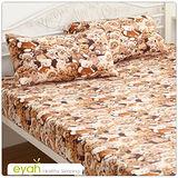 【eyah】珍珠搖粒絨單人床包枕套二件組-熊熊樂園