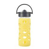 美國唯樂Lifefactory 繽紛彩色玻璃水瓶-吸管350ml黃色 LF284042