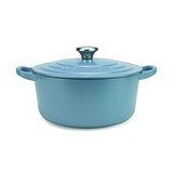 LE CREUSET 琺瑯鑄鐵圓鍋 16cm(礦石藍)鋼頭