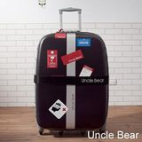 Uncle Bear 個性貼紙系列耐潑水24吋旅行箱 - 黑色