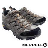【美國 MERRELL】男款 MOAB GORE-TEX XCR 100%防水透氣登山健行鞋 ML87107(淺棕/黑)