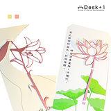 【Desk+1】百合書籤(金+粉紅)+荷花書籤三件組