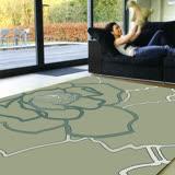 【范登伯格】赫綠玫瑰-曼花繪居家飾品進口絲毯-140x200cm
