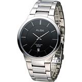 雅柏 ALBA 極簡紳士時尚腕錶 VJ42-X138D AS9923X1