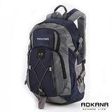 AOKANA奧卡納 台灣扣具 輕量護脊紓壓 防潑水機能後背包(深藏藍)68-075