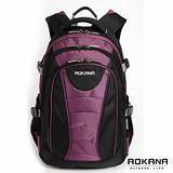 AOKANA奧卡納 台灣扣具 輕量防潑水護脊紓壓機能後背包(紫/黑)68-076