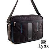 Lynx - 山貓科技概念系列機能橫式側背包-牛津藍