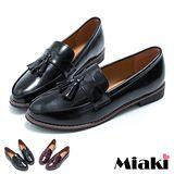 【Miaki】MIT 經典低跟包鞋 都會時尚平底鞋 (黑色 / 酒紅)