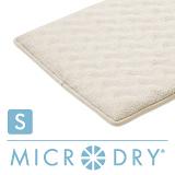 【MICRODRY時尚地墊】3D波紋記憶綿-象牙白(S)