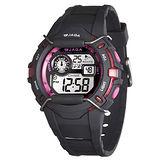 JAGA 捷卡 M872-AG 俏麗活耀女生多功能電子錶