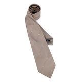 EMPORIO ARMANI 新款老鷹LOGO標誌點綴絲質領帶-淺卡其