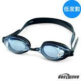 熱浪度數泳鏡-RIVER選手型光學近視泳鏡(黑色150-300度)