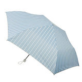 【2mm】銀膠抗UV 淨雅條紋蛋卷傘(水藍)