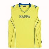KAPPA義大利時尚棈典吸濕排汗型男寬肩背心~清黃
