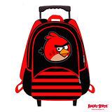 【Angry Birds】憤怒鳥造型條紋16吋拉桿書包