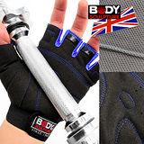 【BODY SCULPTURE】舒適透氣運動手套 C016-92 健身手套短手套防護具.止滑手套防滑手套