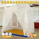 凱蕾絲帝 大空間專用6尺床墊耐用針織蚊帳(開單門) -米白