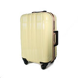COSSACK 20吋 PC糖果色系列 日本靜音輪鋁框旅行箱 米黃色CS11-2026020-06