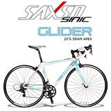 SAXSO SINIC Glider 專業級APEX超值公路車(藍白)
