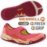 【美國 MERRELL】女新款 ALLOUT BOLD 都會休閒健走鞋/防水透氣鞋.運動鞋.娃娃鞋.輕量.適自行車.健走慢跑(非Nike) 桃紅 J21632