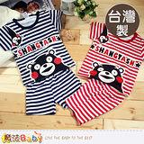 魔法Baby~台灣製幼兒夏季短袖套裝(藍.紅) 男女童裝 k39382