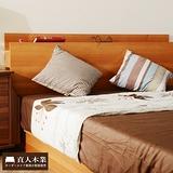 【日本直人木業】3.5尺原木色單人床架簡約收納功能