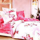 《KOSNEY 馨語妙戀》雙人精梳棉四件式兩用被床包組