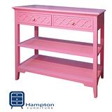漢妮Hampton安琪拉二抽玄關桌-粉紅