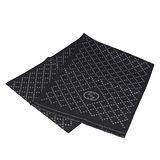 GUCCI 經典GG LOGO格紋羊毛圍巾(黑)