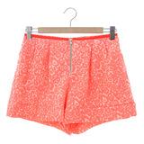 【JESSICA RED】氣質名媛風短褲 橘紅