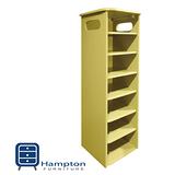 漢妮Hampton安琪拉七層鞋架-粉黃 免組裝