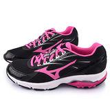 MIZUNO 女款WAVE ADVANCE 2 超輕量慢跑鞋J1GF154965-黑桃
